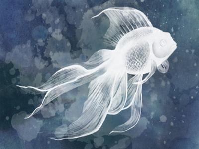 Indigo Fish II by Grace Popp