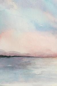 Sea Sunset Triptych I by Grace Popp