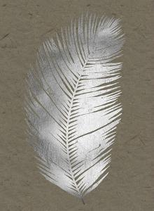 Silver Foil Untethered Palm I on Banana Clay by Grace Popp