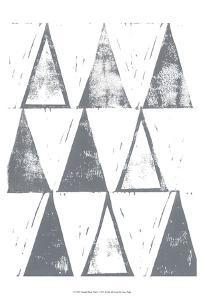 Triangle Block Print I by Grace Popp