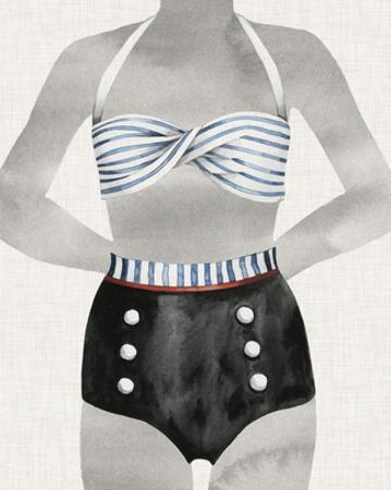 Vintage Bathing Suit I by Grace Popp