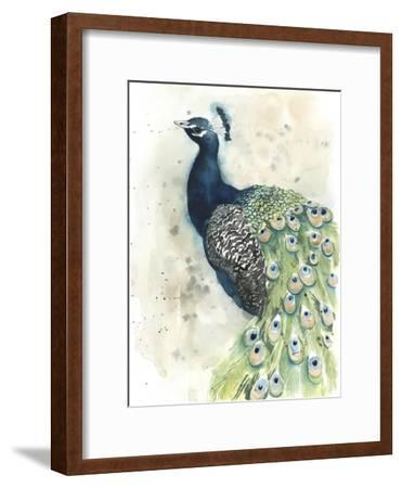 Watercolor Peacock Portrait II