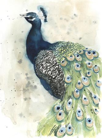 Watercolor Peacock Portrait II by Grace Popp