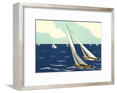 Graceful Racing Sailboats