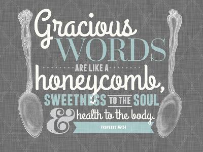 Gracious Words--Giclee Print