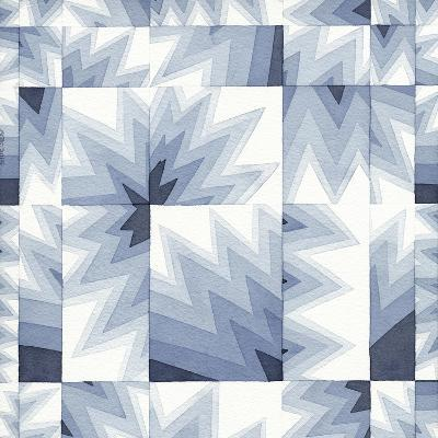 Gradient Indigo III-Nikki Galapon-Art Print