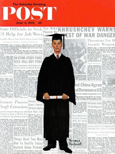 """""""Graduate"""" Saturday Evening Post Cover, June 6,1959-Norman Rockwell-Giclee Print"""