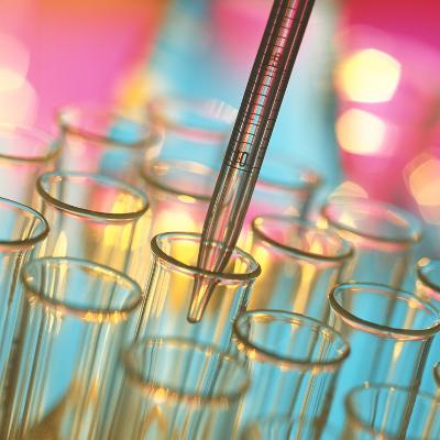 Graduated Pipette And Test Tubes-Tek Image-Photographic Print