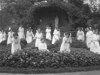 Graduating Class of Girls from the Roman Catholic Orphan Asylum in the Flower Garden-William Davis Hassler-Photographic Print