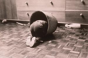 Child in Basket by Graeme Harris