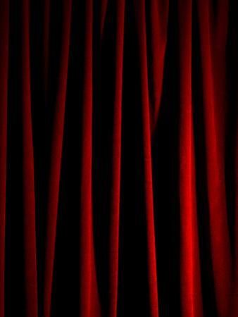 Rich Red Curtain by Graeme Montgomery