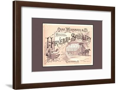 Graf, Morsbach and Co. Harness and Saddlery--Framed Art Print