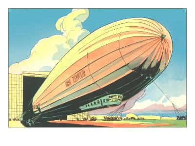 Graf Zeppelin at the Hangar--Art Print