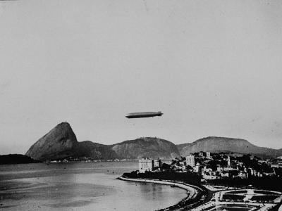 Graf Zeppelin Flying over Rio--Photographic Print