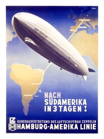 Graf Zeppelin, Hamburg to Amerika, c.1937--Giclee Print