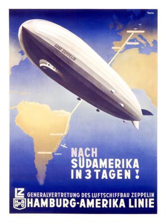 Graf Zeppelin, Hamburg to Amerika, c.1937