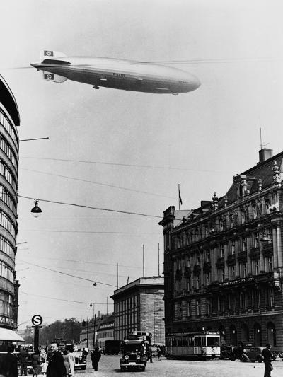 Graf Zeppelin Ii over Berlin--Photographic Print
