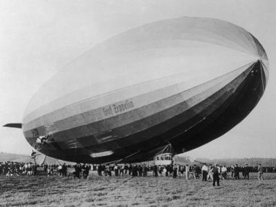 Graf Zeppelin People Mill Around as the Airship Prepares for Take Off