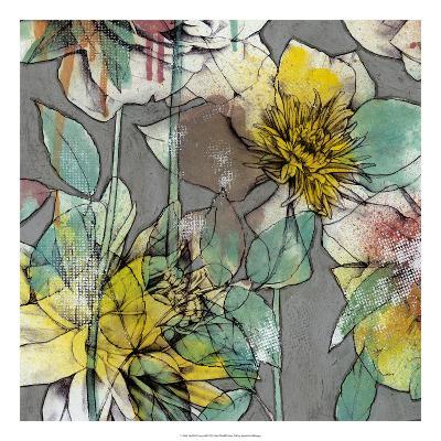 Graffiti Flowers II-Jennifer Goldberger-Premium Giclee Print