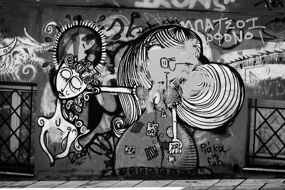 Graffiti in Athens Greece--Photo