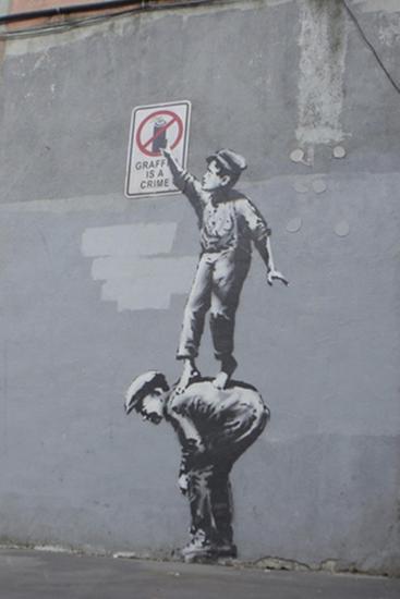 Graffiti Is a Crime-Banksy-Premium Giclee Print
