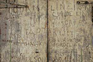 Graffiti of Sailors' Names, English Harbour, Antigua