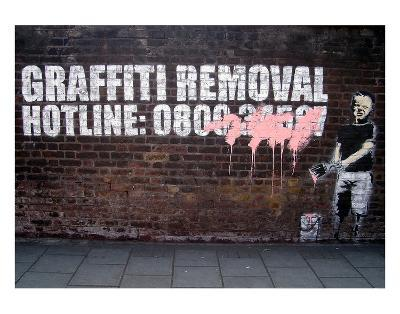 Graffiti Removal-Banksy-Art Print