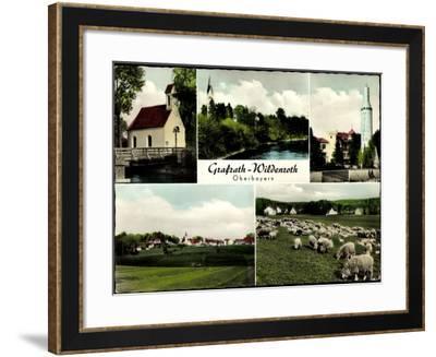 Grafrath Wildenroth Oberbayern, Kirche, Schafherde, Rete Mattel 69--Framed Giclee Print