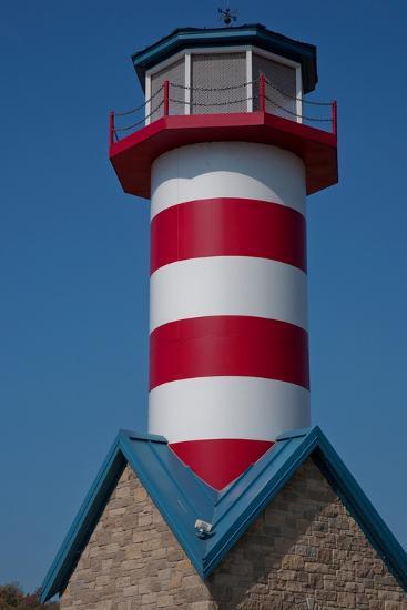 Grafton Illinois Red and White Striped Lighthouse-Joseph Sohm-Photographic Print