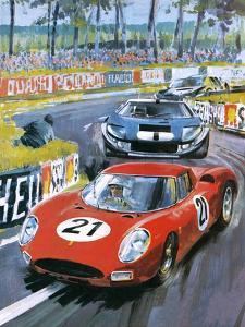 Jochen Rindt Driving a 250 Lm Ferrari by Graham Coton