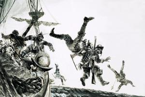 The Earl of Cumberland, Pirate, Boards a Portuguese Carrack by Graham Coton