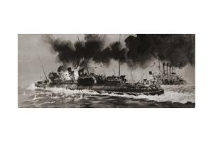 Unidentified WW1 Naval Engagement by Graham Coton