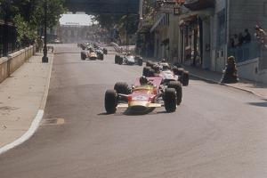 Graham Hill's Lotus Leading John Surtees' Honda, Monaco Grand Prix, 1968