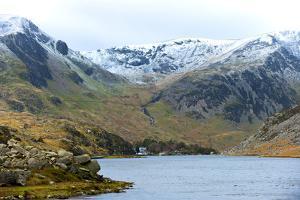 A View of Llyn (Lake) Ogwen in Snowdonia National Park, Gwynedd, Wales, United Kingdom, Europe by Graham Lawrence