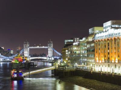 London Skyline at Night, London, England, United Kingdom, Europe