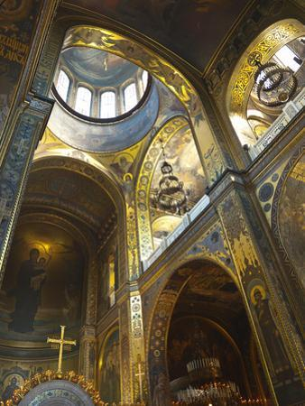 St. Vladimir's Cathedral Interior, Kiev, Ukraine, Europe by Graham Lawrence