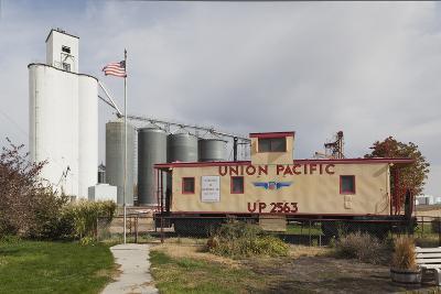 Grain Elevator, Hershey, Nebraska, USA-Walter Bibikow-Photographic Print