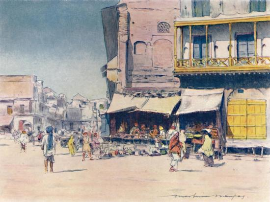 'Grain-sellers', 1905-Mortimer Luddington Menpes-Giclee Print
