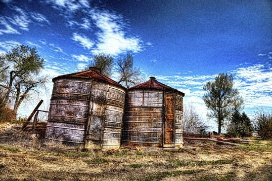 Grain Storage Bins-Randy Waln-Giclee Print