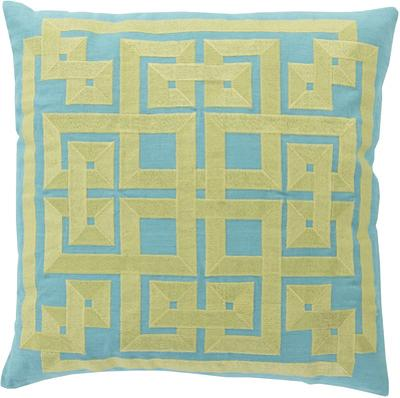 Gramercy Down Fill Pillow - Lime/Aqua