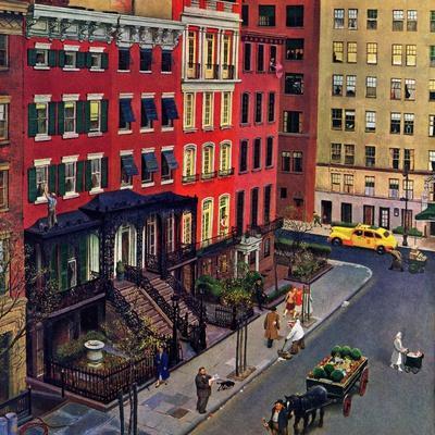 """Gramercy Park,"" March 25, 1944-John Falter-Premium Giclee Print"
