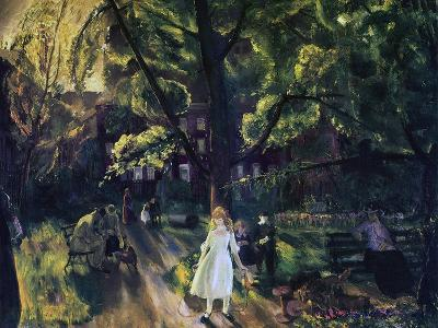Gramercy Park-George Wesley Bellows-Giclee Print