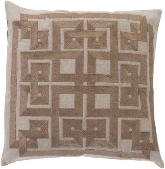 Gramercy Poly Fill Pillow - Khaki--Home Accessories