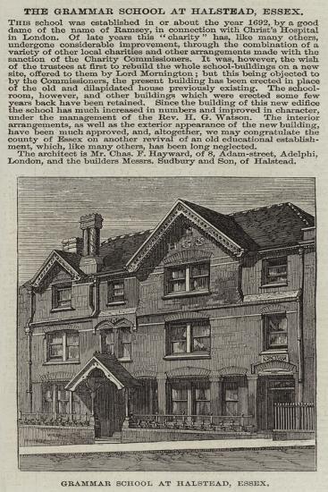 Grammar School at Halstead, Essex--Giclee Print