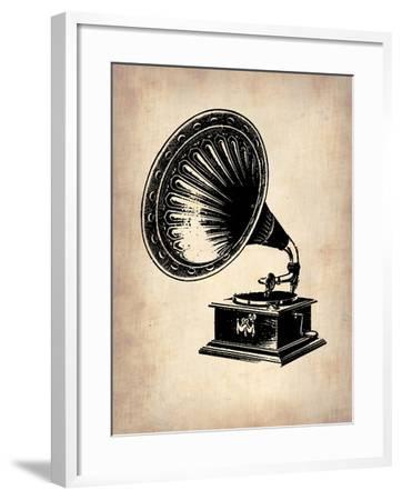 Gramophone 1-NaxArt-Framed Art Print