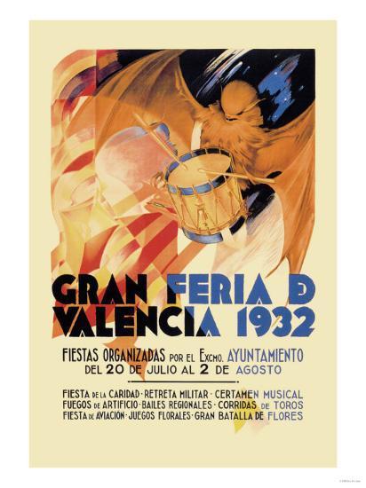 Gran Feria de Valencia 1932--Art Print