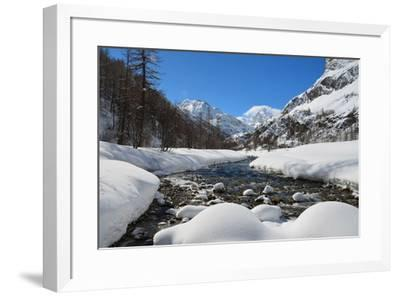 Gran Paradiso national park, Rhemes valley in the winter, Aosta valley, Italy, Europe-ClickAlps-Framed Photographic Print