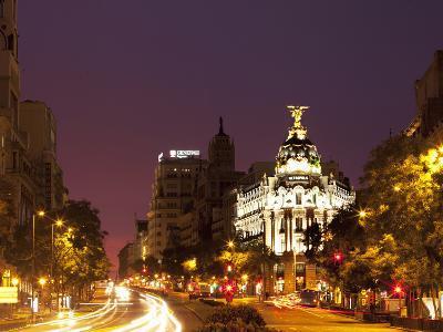 Gran Via and Calle De Alcala, Madrid, Spain, Europe-Angelo Cavalli-Photographic Print