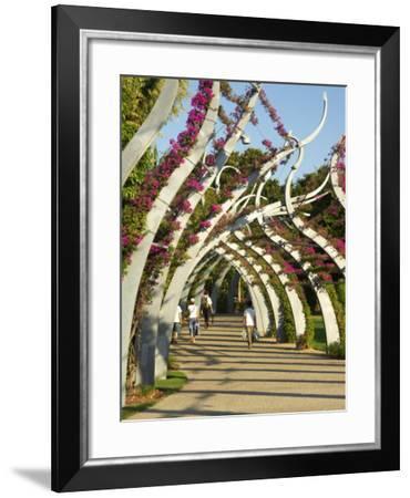 Grand Arbour, South Bank Parklands, Brisbane, Queensland, Australia-David Wall-Framed Photographic Print