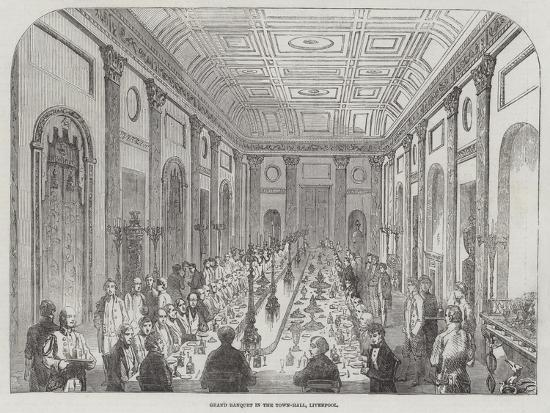 Grand Banquet in the Town-Hall, Liverpool--Giclee Print